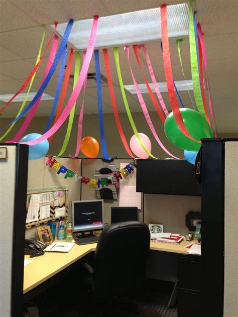 office cube birthday celebration my diy birthdays offices and celebrations