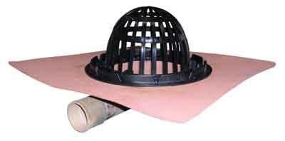 thunderbird copper deck drains 100 images through wall