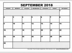 September 2018 Calendar Pdf Calendar Template Printable