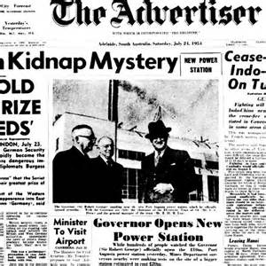 Front page of the newspaper from 1954 - ABC News ...