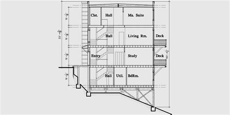 modern town house plans duplex house plans sloping lot plans