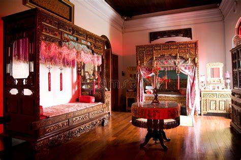 Old Chinese Wedding Chamber Stock Image-image Of Wood