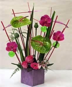 composition florale eventail