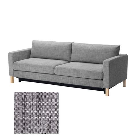 ikea karlstad sofa bed slipcover cover isunda gray grey