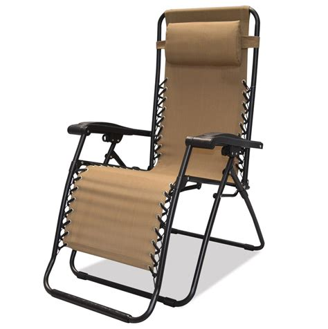 caravan sports infinity zero gravity chair beige patio lawn garden