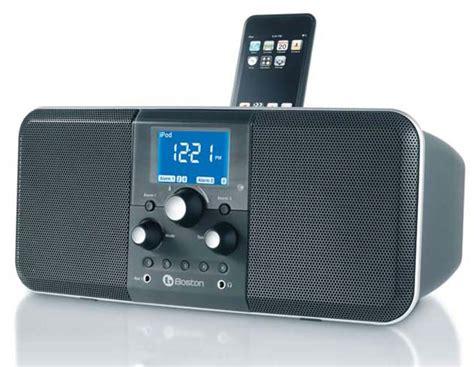 boston acoustics horizon duoi clock ipod am fm radio dock colour black