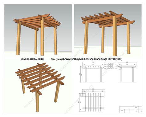 free standing pergola plans designs garden landscape
