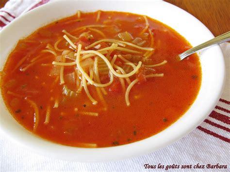 tous les go 251 ts sont chez barbara soupe tomates vermicelles classique en un clin d oeil