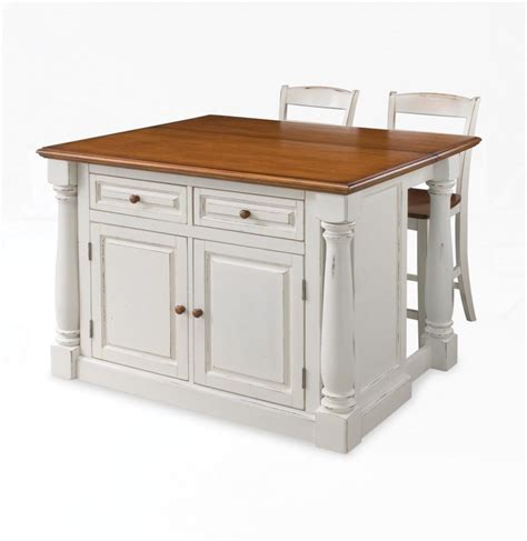 home styles 206 lot de cuisine quot monarch quot avec 2 tabourets blanc antique home depot canada