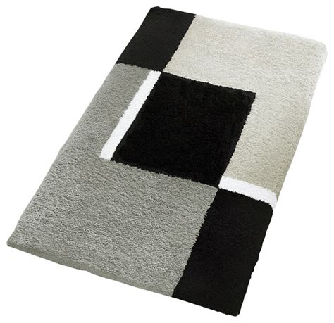 oversized bath rug gray contemporary bath mats other metro by vita futura