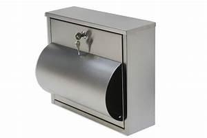 Briefkasten Edelstahl Design : design edelstahl briefkasten mit zeitungsfach vorn postkasten briefe zeitung neu ebay ~ Markanthonyermac.com Haus und Dekorationen