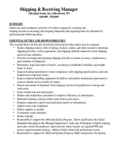 9+ Shipping And Receiving Job Description Samples  Sample. Good Resume Format For Experienced. Font Size Of Resume. Resume Skills Team Player. Example Of College Student Resume. Social Media Resume Template. Food Attendant Resume. Samples Of Professional Summary For A Resume. Sample Physical Therapist Resume