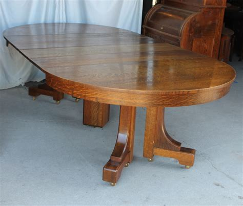 Bargain John's Antiques  Mission Style Round Oak Dining. Desk Units For A Wall. 48 Round Table Top. Mu It Help Desk. Round Dining Table With Leaves. Cream Console Table. Pottery Barn Kids Lap Desk. Sleigh Bed With Drawers. Monitor Desk Arm