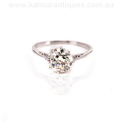 platinum deco engagement ring available for viewing in sydney or