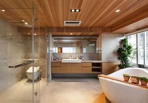 Holzdecke Im Bad : techos de madera cincuenta ideas modernas ~ Markanthonyermac.com Haus und Dekorationen