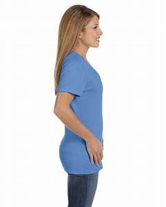 NEW Hanes Women's 4.5 oz 100% Cotton Short Sleeve nano-T V ...