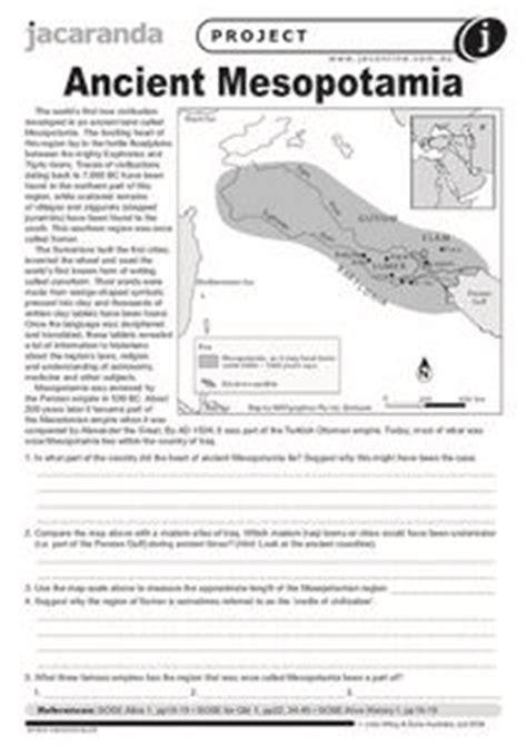 Ancient Mesopotamia 9th  12th Grade Worksheet  Lesson Planet