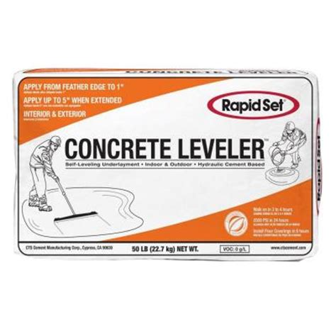 rapid set 50 lb cts concrete leveler 186010050 the home depot
