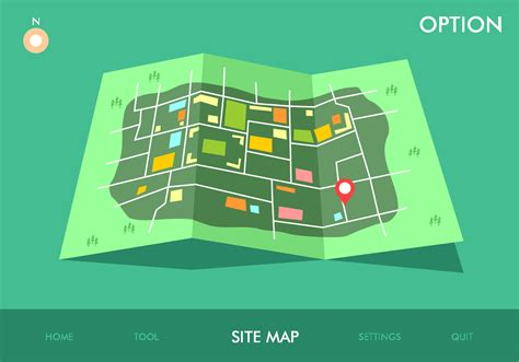 Site Map Game Option Vector  Download Free Vector Art