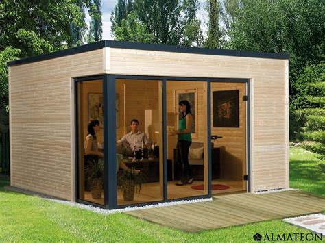 abri en bois brut 11 4 m2 cubilis 1 design 233 paisseur 45