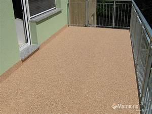 Balkon Grüner Belag : marmorix steinteppich verlegebeispiele au enbereich ~ Markanthonyermac.com Haus und Dekorationen