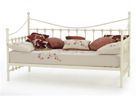 serene marseilles 3ft single ivory metal day bed frame
