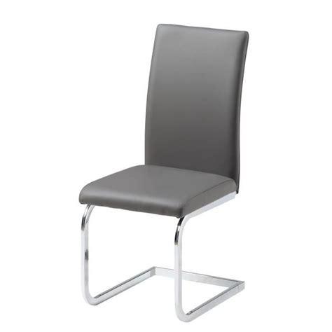 ensemble table 224 manger 6 chaises en pvc gris achat vente table salle a manger pas
