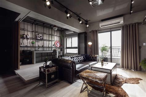 Industrial Home Style : Fabulous Marvel Heroes Themed House With Cement Finish And