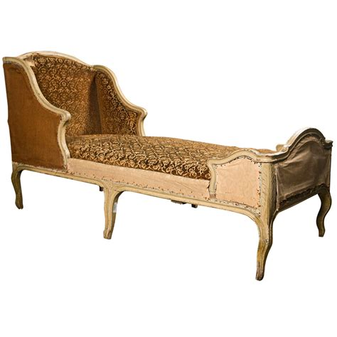 painted oak chaise longue in the rococo style louis xv period c 1770 at 1stdibs