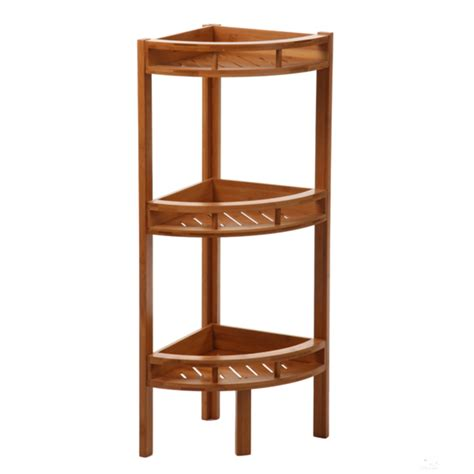 etagere d angle bambou