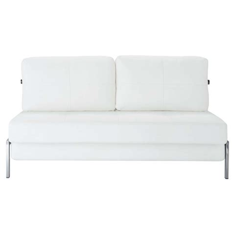 canap 233 blanc 2 places convertible detroit maisons du monde