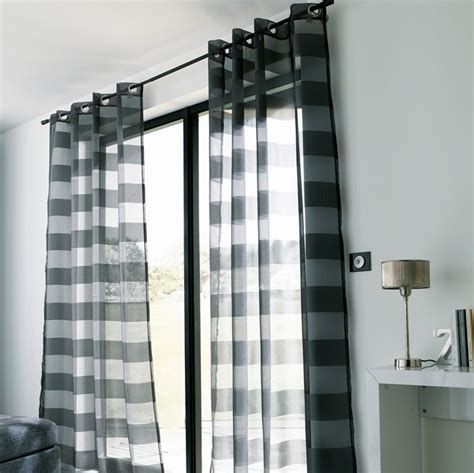 voilage castorama noir polyester photo 1 10 un voilage moderne qui se tr 232 s bien avec