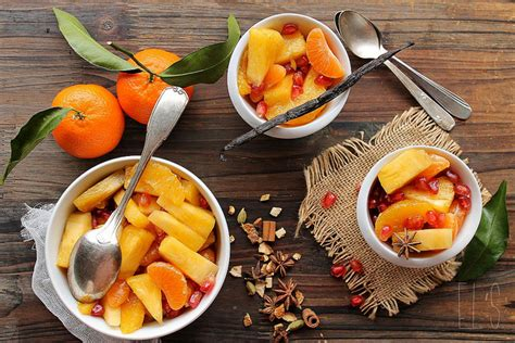 salade de fruits d hiver et sirop aux 233 pices de no 235 l et 224 la vanille