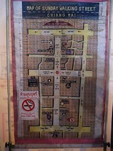 Map Of Chiang Mai Sunday Night Waking Street Market ...