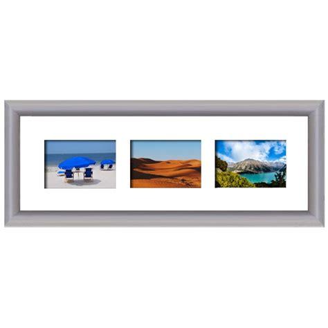 cadre en bois arrondi gris 2 cm multivues 3 photos 10 x 15 ou 15 x 10