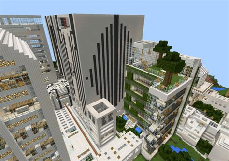 the nxus modern city creation minecraft pe maps