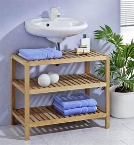 Waschbeckenunterschrank Holz Hängend : waschbeckenunterschrank regal badezimmer m bel und wohnen ~ Markanthonyermac.com Haus und Dekorationen