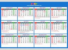 Kalender 2019 indonesia 1 2019 2018 Calendar Printable