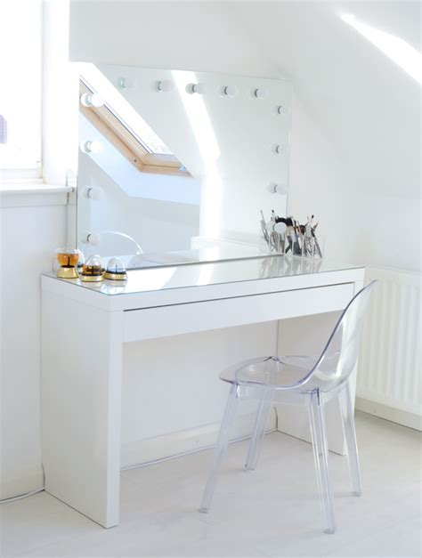 Makeup Storage Ideas  Ikea Malm Makeup Vanity With Mirror. Balcony Shades. Modern Couches. Kitchen Remodeling Northern Virginia. Octagon Coffee Table. Antique Executive Desk. Round Vanity Mirror. How To Clean Patio Cushions. What Colors Go With Gray