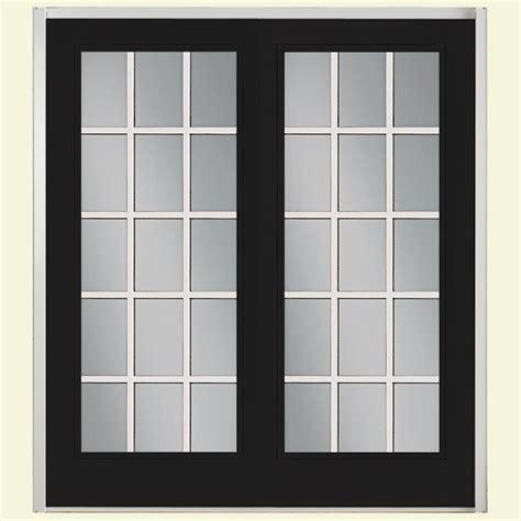 Masonite Patio Doors With Sidelites Masonite 72 In X 80 In Prehung Left Inswing 10 Lite