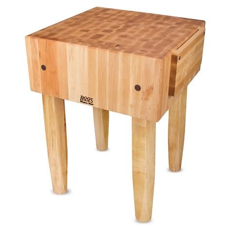 "John Boos Pca3 10"" Maple Top Butcher Block Work Table 24"