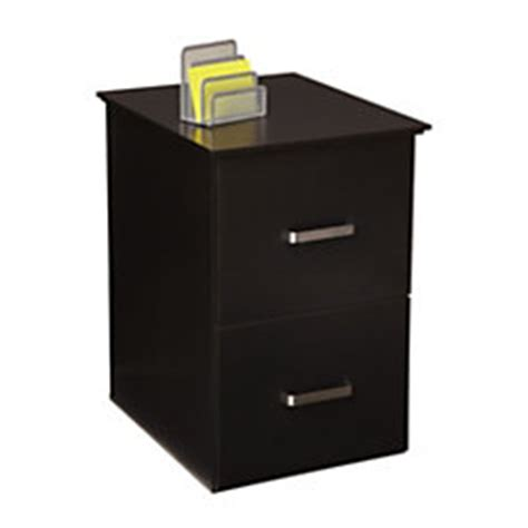 officemax black finish 2 drawer vertical file cabinet by