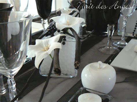 nuit des anges d 233 coratrice de mariage d 233 coration de table noir et blanc 006 photo de