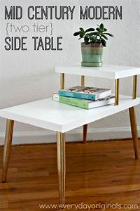 Mid Century Modern Two Tier Side Tab… | Best of Everyday ...