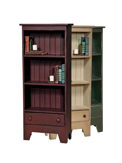 Book Case W Drawer Amish Handmade Repurposed Country