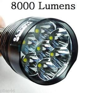 le torche tr j18 trustfire 8000 lumens 7 led puissante 8000lm cree xm l t6 ebay
