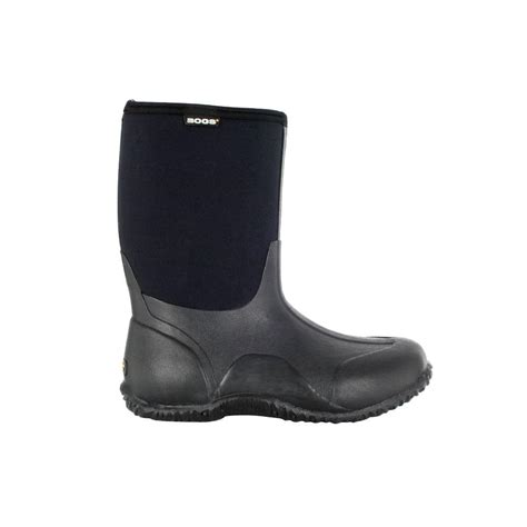 Rubber Boots Home Depot by Bogs Classic Mid Women 10 In Size 10 Black Rubber With