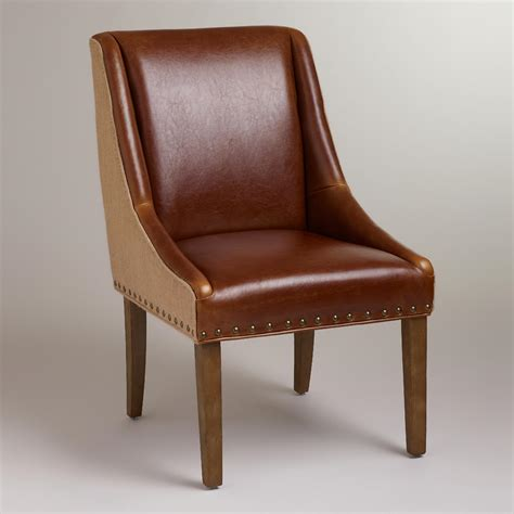 leather and jute wes dining chair world market