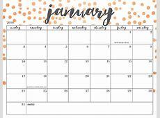 Free Cute Printable Calendar 2017 Skakun Media