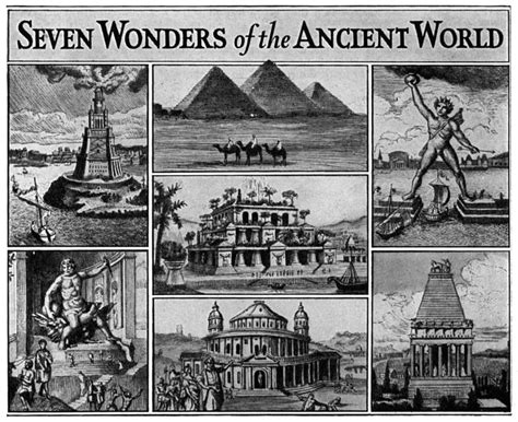 seven wonders of the world ancient versus modern